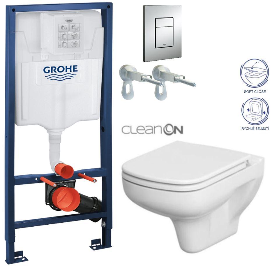 AKCE/SET/GROHE - GROHE -Rapid SL Rapid SL pro závěsné WC 38528SET + WC CERSANIT COLOUR CLEAN ON + SEDÁTKO (38772001 CN1)