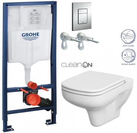 AKCE/SET/GROHE - Rapid SL Rapid SL pro závěsné WC 38528SET + WC CERSANIT COLOUR CLEAN ON + SEDÁTKO (38772001 CN1)