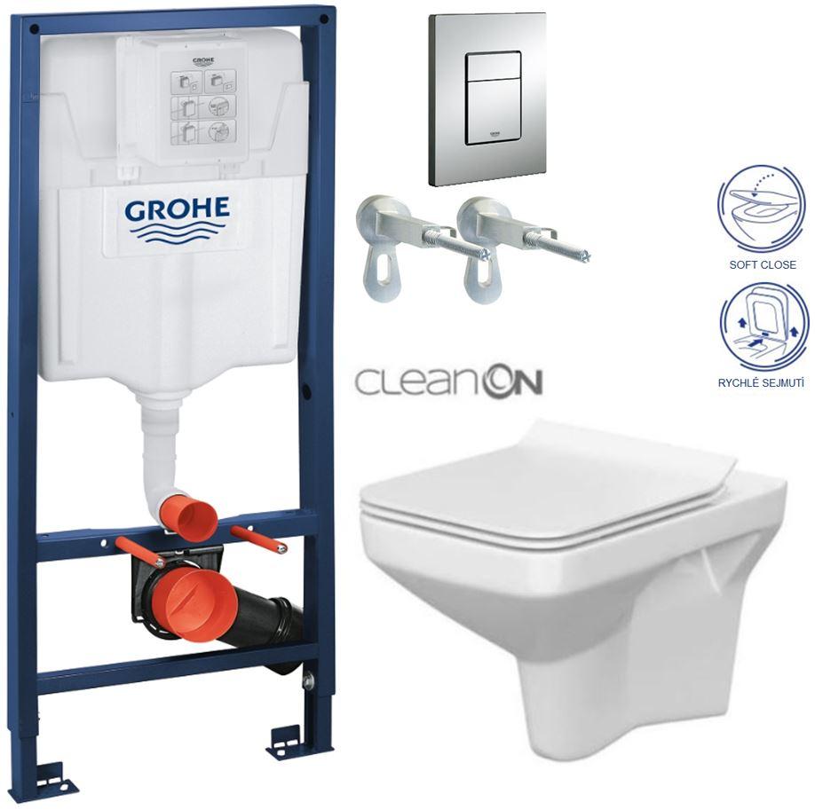 AKCE/SET/GROHE - GROHE -Rapid SL Rapid SL pro závěsné WC 38528SET + WC CERSANIT COMO CLEAN ON + SEDÁTKO (38772001 CO1)