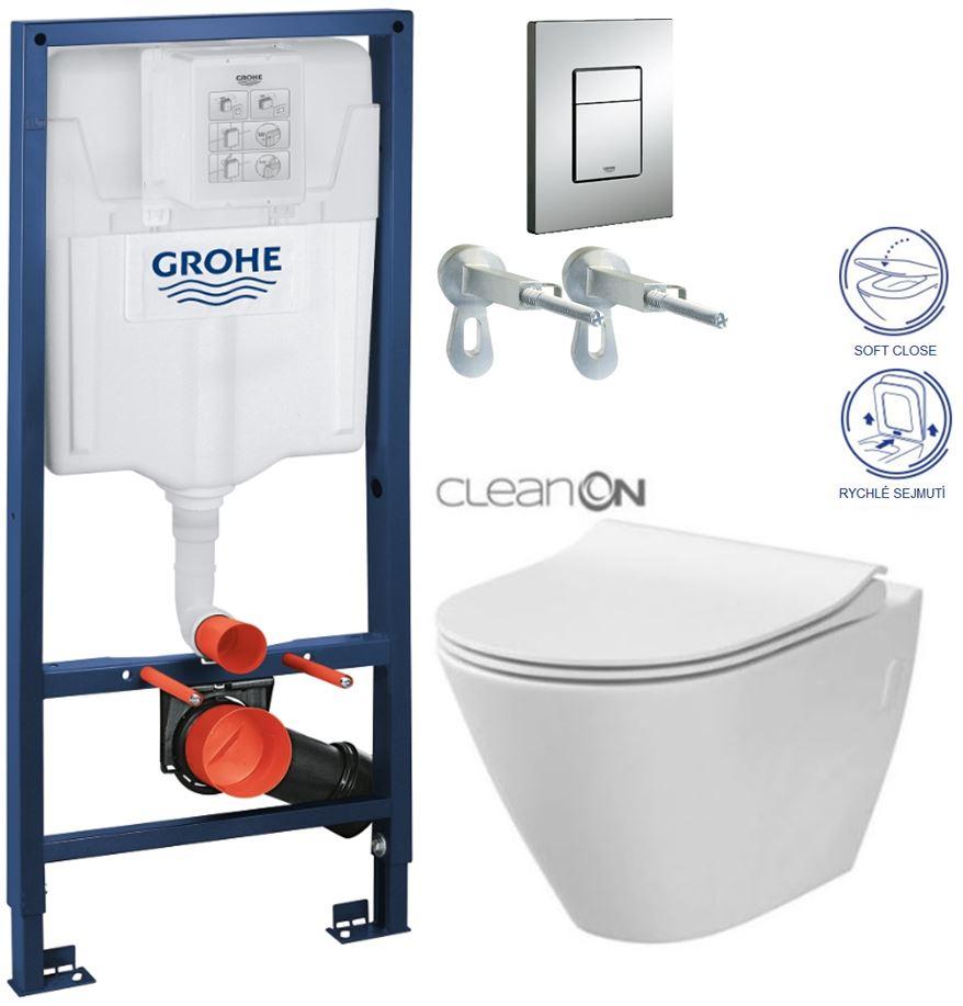 AKCE/SET/GROHE - GROHE -Rapid SL Rapid SL pro závěsné WC 38528SET + WC CERSANIT CITY CLEAN ON + SEDÁTKO (38772001 CI1)