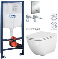 AKCE/SET/GROHE - Rapid SL Rapid SL pro závěsné WC 38528SET + WC CERSANIT CASPIA CLEAN ON + SEDÁTKO (38772001 CP1)
