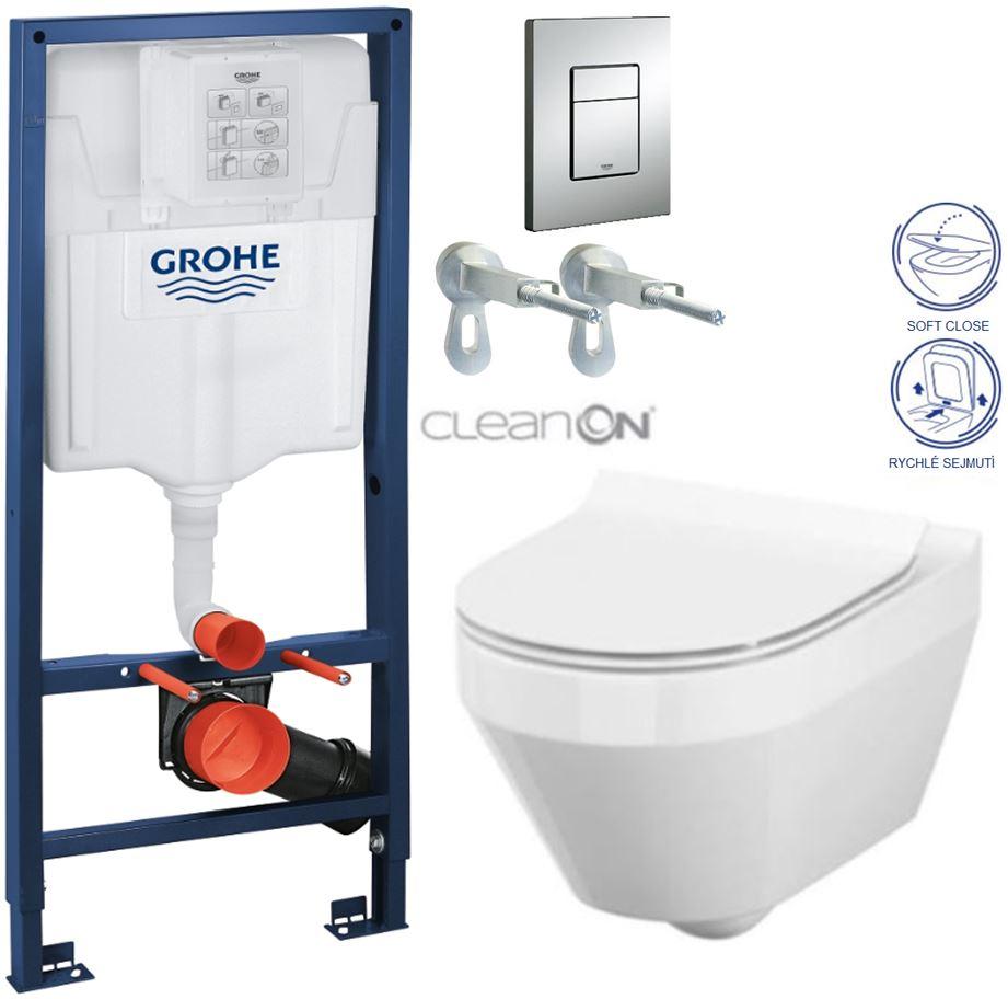 AKCE/SET/GROHE - GROHE -Rapid SL Rapid SL pro závěsné WC 38528SET + WC CERSANIT CREA OVÁL CLEAN ON + SEDÁTKO (38772001 CR1)