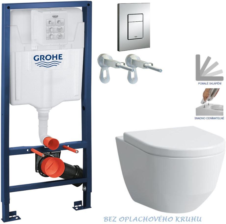 AKCE/SET/GROHE - GROHE -Rapid SL Rapid SL pro závěsné WC 38528SET + WC LAUFEN PRO RIMLESS + SEDÁTKO (38772001 LP1)