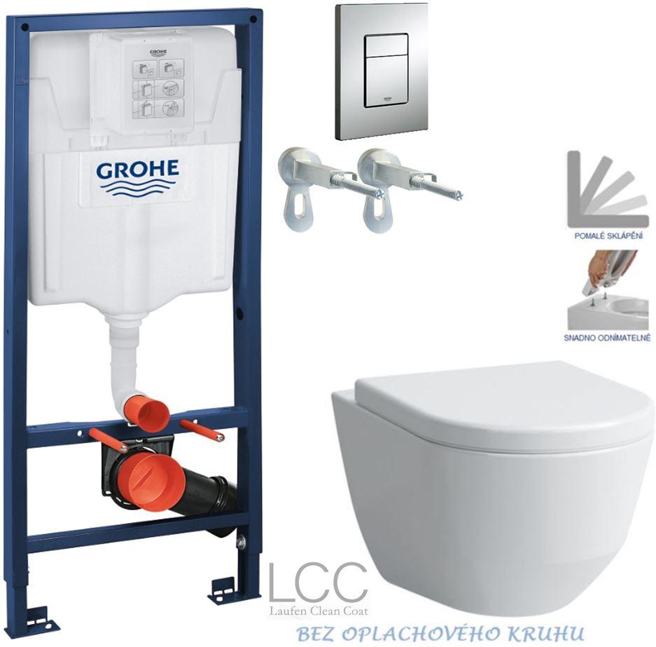 AKCE/SET/GROHE - GROHE -Rapid SL Rapid SL pro závěsné WC 38528SET + WC LAUFEN PRO LCC RIMLESS + SEDÁTKO  (38772001 LP2)