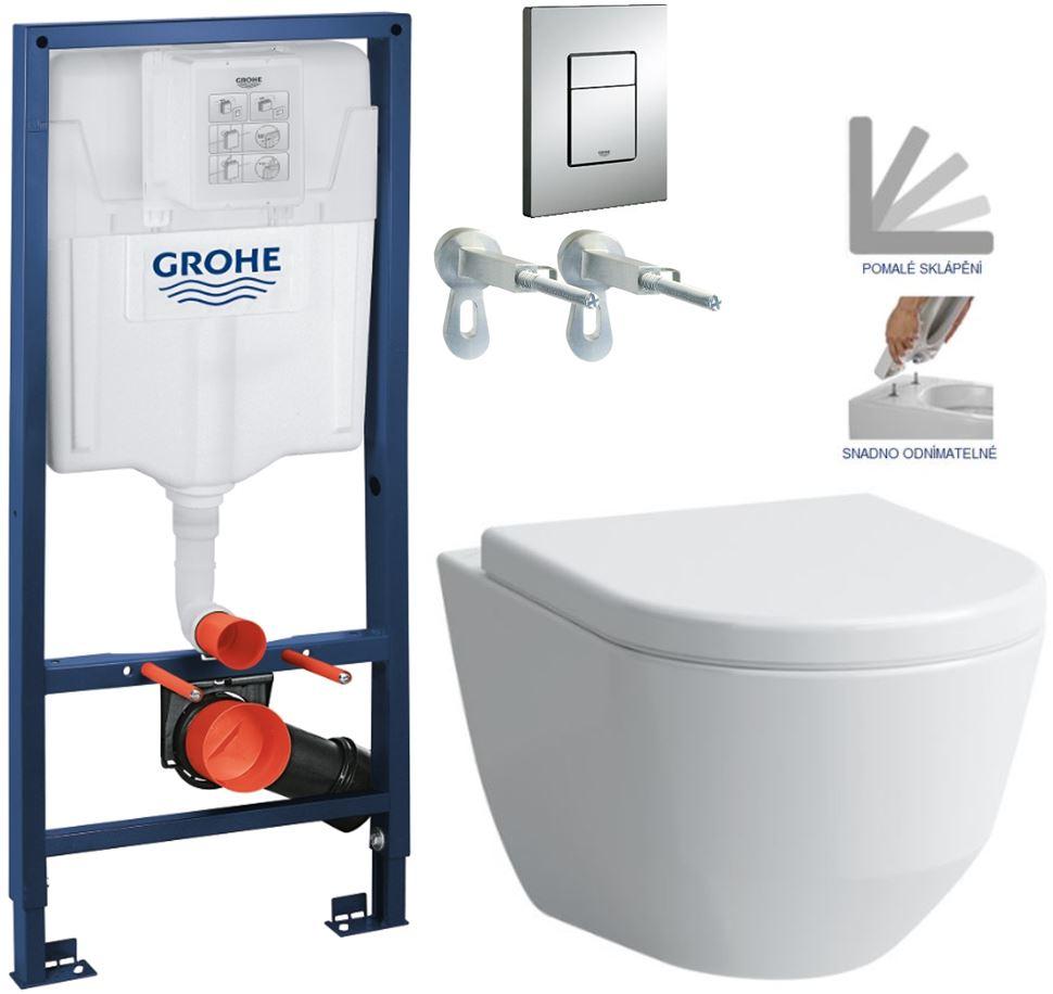 AKCE/SET/GROHE - GROHE -Rapid SL Rapid SL pro závěsné WC 38528SET + WC LAUFEN PRO + SEDÁTKO (38772001 LP3)