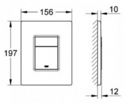 Rapid SL pro závěsné WC 38528SET s chromovou deskou + WC CERSANIT ZEN CLEANON + SEDÁTKO (38772001 HA1), fotografie 14/8
