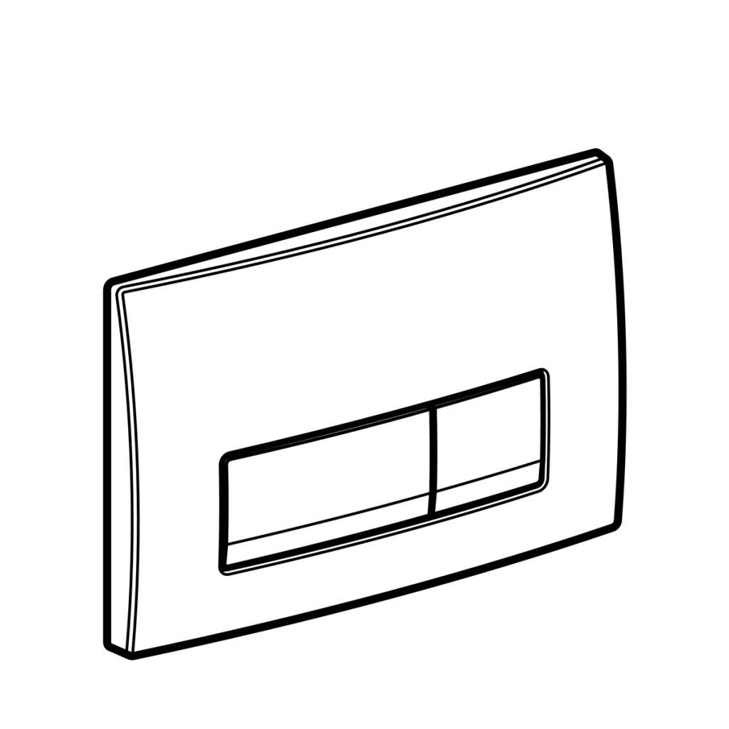 AKCE/SET/GEBERIT - KOMBIFIXBasic včetně ovládacího tlačítka DELTA 51 CR + WC TESI se sedátkem SoftClose, AquaBlade (110.100.00.1 51CR TE1), fotografie 2/11