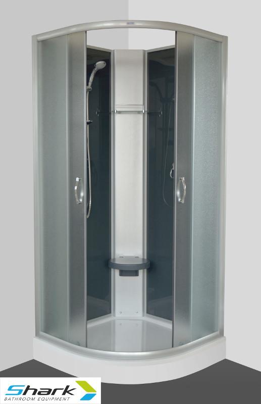 ARTTEC SUNNY 90 STONE Sprchový box s vaničkou z litého mramoru, SHARK PAN01025