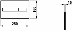 AKCE/SET/LAUFEN - Rámový podomítkový modul CW1  SET + ovládací tlačítko CHROM + WC TESI se sedátkem SoftClose, AquaBlade (H8946600000001CR TE1), fotografie 14/7