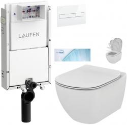 AKCE/SET/LAUFEN - Podomít. systém LIS TW1 SET BÍLÁ + ovládací tlačítko BÍLÉ + WC TESI se sedátkem SoftClose, AquaBlade (H8946630000001BI TE1)