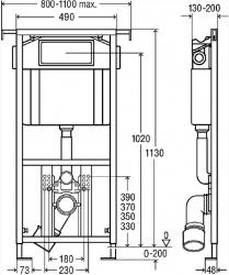 AKCE/SET/VIEGA - Eko PLUS modul do jádra WC čelní ovládání  SET + ovládací tlačítko CHROM + WC TESI se sedátkem SoftClose, AquaBlade (V622176CR TE1), fotografie 14/8
