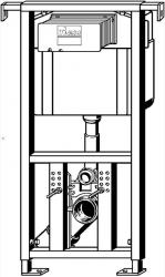 AKCE/SET/VIEGA - Eko PLUS modul do jádra WC čelní ovládání  SET + ovládací tlačítko CHROM + WC TESI se sedátkem SoftClose, AquaBlade (V622176CR TE1), fotografie 16/8
