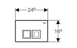 AKCE/SET/GEBERIT - Duofix Sada pro závěsné WC 458.103.00.1 + tlačítko DELTA50 bílé + WC ARES + SEDÁTKO (458.103.00.1 50BI AR1), fotografie 10/9