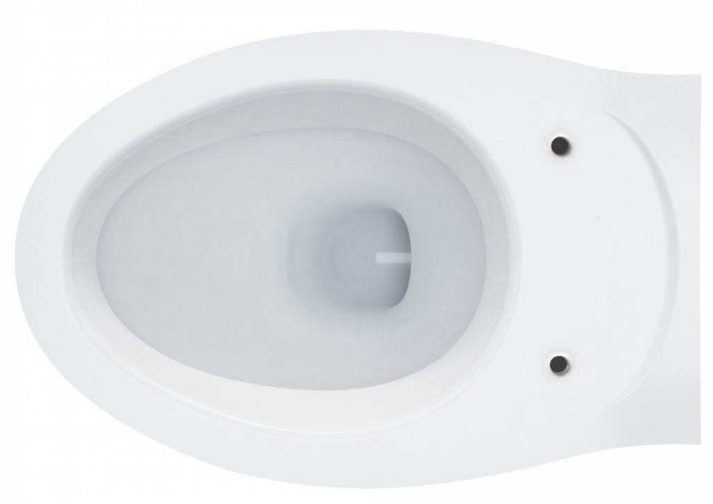 AKCE/SET/LAUFEN - Rámový podomítkový modul CW1 SET + ovládací tlačítko CHROM + WC ARES + SEDÁTKO (H8946600000001CR AR1)