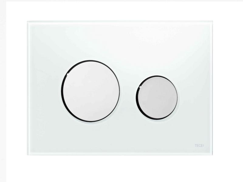 TECE - LOOP ovládací tlačítko, sklo 9.240.660 - bílá/chrom (K9533094)