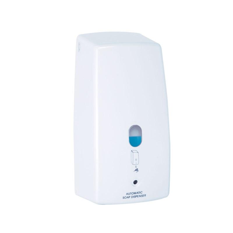MEREO Dávkovač tekutého mýdla, automatický, napájení baterie AA, 650 ml, plast/bílá VS903