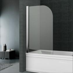 MEREO - Vanová zástěna, 70 cm, leštěný hliník, sklo Čiré (CK70123Z)