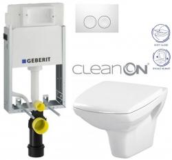 AKCE/SET/GEBERIT - SET KOMBIFIXBasic včetně ovládacího tlačítka DELTA 21 Bílé pro závěsné WC CERSANIT CLEANON CARINA + SEDÁTKO (110.100.00.1 21BI CA2)