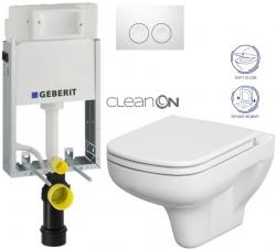 AKCE/SET/GEBERIT - SET KOMBIFIXBasic včetně ovládacího tlačítka DELTA 21 Bílé pro závěsné WC CERSANIT CLEANON COLOUR + SEDÁTKO (110.100.00.1 21BI CN1)