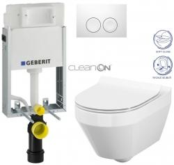 AKCE/SET/GEBERIT - SET KOMBIFIXBasic včetně ovládacího tlačítka DELTA 21 Bílé pro závěsné WC CERSANIT CLEANON CREA OVÁL + SEDÁTKO (110.100.00.1 21BI CR1)