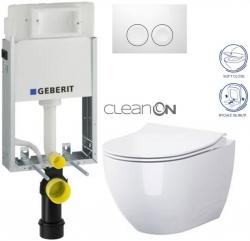 AKCE/SET/GEBERIT - KOMBIFIXBasic včetně ovládacího tlačítka DELTA 21 Bílé pro závěsné WC OPOCZNO CLEANON URBAN HARMONY + SEDÁTKO (110.100.00.1 21BI HA1)