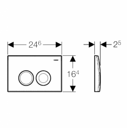 AKCE/SET/GEBERIT - KOMBIFIXBasic včetně ovládacího tlačítka DELTA 21 Bílé pro závěsné WC CERSANIT MITO + SEDÁTKO (110.100.00.1 21BI MI1), fotografie 32/17
