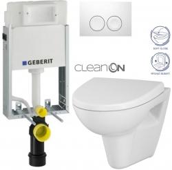 AKCE/SET/GEBERIT - SET KOMBIFIXBasic včetně ovládacího tlačítka DELTA 21 Bílé pro závěsné WC CERSANIT CLEANON PARVA + SEDÁTKO (110.100.00.1 21BI PA1)