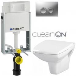 AKCE/SET/GEBERIT - SET KOMBIFIXBasic včetně ovládacího tlačítka DELTA 21 MAT pro závěsné WC CERSANIT CLEANON CARINA + SEDÁTKO (110.100.00.1 21MA CA1)
