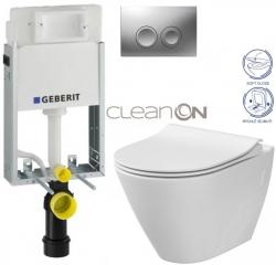 AKCE/SET/GEBERIT - SET KOMBIFIXBasic včetně ovládacího tlačítka DELTA 21 MAT pro závěsné WC CERSANIT CLEANON CITY + SEDÁTKO (110.100.00.1 21MA CI1)