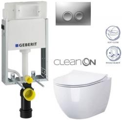 AKCE/SET/GEBERIT - SET KOMBIFIXBasic včetně ovládacího tlačítka DELTA 21 MAT pro závěsné WC OPOCZNO CLEANON URBAN HARMONY + SEDÁTKO (110.100.00.1 21MA HA1)