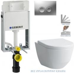 AKCE/SET/GEBERIT - SET KOMBIFIXBasic včetně ovládacího tlačítka DELTA 21 MAT pro závěsné WC LAUFEN PRO RIMLESS + SEDÁTKO (110.100.00.1 21MA LP1)