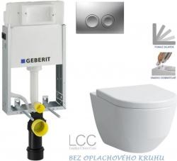 AKCE/SET/GEBERIT - SET KOMBIFIXBasic včetně ovládacího tlačítka DELTA 21 MAT pro závěsné WC LAUFEN PRO LCC RIMLESS + SEDÁTKO (110.100.00.1 21MA LP2)