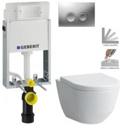 AKCE/SET/GEBERIT - SET KOMBIFIXBasic včetně ovládacího tlačítka DELTA 21 MAT pro závěsné WC LAUFEN PRO + SEDÁTKO (110.100.00.1 21MA LP3)