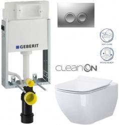 AKCE/SET/GEBERIT - SET KOMBIFIXBasic včetně ovládacího tlačítka DELTA 21 MAT pro závěsné WC OPOCZNO CLEANON METROPOLITAN + SEDÁTKO (110.100.00.1 21MA ME1)