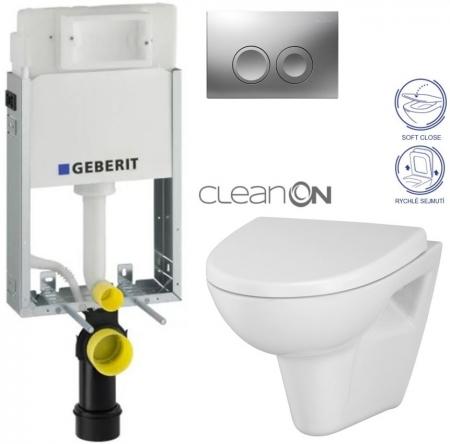 AKCE/SET/GEBERIT - SET KOMBIFIXBasic včetně ovládacího tlačítka DELTA 21 MAT pro závěsné WC CERSANIT CLEANON PARVA + SEDÁTKO (110.100.00.1 21MA PA1)