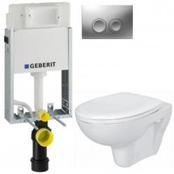 AKCE/SET/GEBERIT - KOMBIFIXBasic včetně ovládacího tlačítka DELTA 21 MAT pro závěsné WC CERSANIT PRESIDENT + SEDÁTKO (110.100.00.1 21MA PR1)