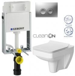 SET KOMBIFIXBasic včetně ovládacího tlačítka DELTA 21 MAT pro závěsné WC CERSANIT CLEANON SPLENDOUR + SEDÁTKO (110.100.00.1 21MA SP1) - AKCE/SET/GEBERIT