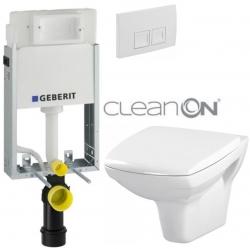 AKCE/SET/GEBERIT - SET KOMBIFIXBasic včetně ovládacího tlačítka DELTA 50 Bílé pro závěsné WC CERSANIT CLEANON CARINA  + SEDÁTKO (110.100.00.1 50BI CA1)