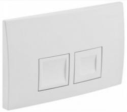 AKCE/SET/GEBERIT - SET KOMBIFIXBasic včetně ovládacího tlačítka DELTA 50 Bílé pro závěsné WC CERSANIT CLEANON CARINA + SEDÁTKO (110.100.00.1 50BI CA2), fotografie 22/11