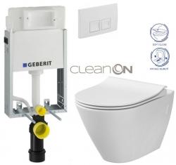 AKCE/SET/GEBERIT - SET KOMBIFIXBasic včetně ovládacího tlačítka DELTA 50 Bílé pro závěsné WC CERSANIT CLEANON CITY (110.100.00.1 50BI CI1)