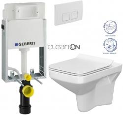 AKCE/SET/GEBERIT - SET KOMBIFIXBasic včetně ovládacího tlačítka DELTA 50 Bílé pro závěsné WC CERSANIT CLEANON COMO + SEDÁTKO (110.100.00.1 50BI CO1)