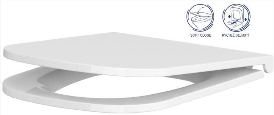 AKCE/SET/GEBERIT - GEBERIT - KOMBIFIXBasic včetně ovládacího tlačítka DELTA 50 Bílé pro závěsné WC CERSANIT CLEANON CASPIA + SEDÁTKO (110.100.00.1 50BI CP1), fotografie 16/11