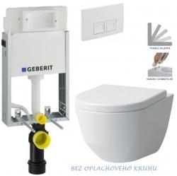 AKCE/SET/GEBERIT - SET KOMBIFIXBasic včetně ovládacího tlačítka DELTA 50 Bílé pro závěsné WC LAUFEN PRO RIMLESS + SEDÁTKO (110.100.00.1 50BI LP1)