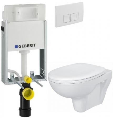 AKCE/SET/GEBERIT - SET KOMBIFIXBasic včetně ovládacího tlačítka DELTA 50 Bílé pro závěsné WC CERSANIT PRESIDENT + SEDÁTKO (110.100.00.1 50BI PR1)