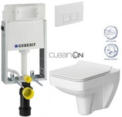 AKCE/SET/GEBERIT - SET KOMBIFIXBasic včetně ovládacího tlačítka DELTA 50 Bílé pro závěsné WC CERSANIT CLEANON SPLENDOUR + SEDÁTKO (110.100.00.1 50BI SP1)