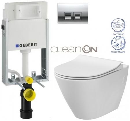AKCE/SET/GEBERIT - SET KOMBIFIXBasic včetně ovládacího tlačítka DELTA 50 CR pro závěsné WC CERSANIT CLEANON CITY + SEDÁTKO (110.100.00.1 50CR CI1)