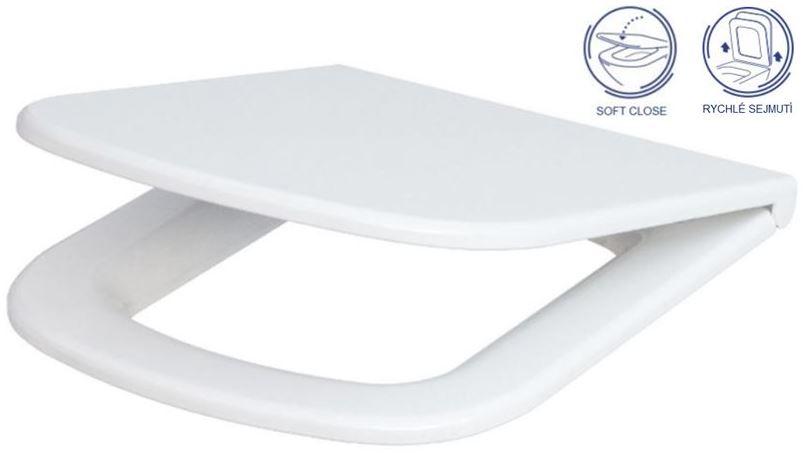 AKCE/SET/GEBERIT - KOMBIFIXBasic včetně ovládacího tlačítka DELTA 50 CR pro závěsné WC CERSANIT CLEANON COLOUR + SEDÁTKO (110.100.00.1 50CR CN1), fotografie 16/11