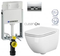 AKCE/SET/GEBERIT - SET KOMBIFIXBasic včetně ovládacího tlačítka DELTA 50 CR pro závěsné WC CERSANIT CLEANON CASPIA + SEDÁTKO (110.100.00.1 50CR CP1)