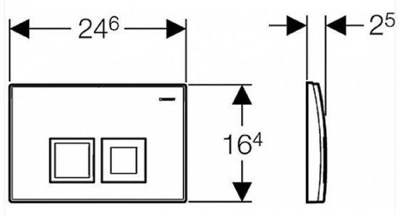 AKCE/SET/GEBERIT - KOMBIFIXBasic včetně ovládacího tlačítka DELTA 50 CR pro závěsné WC CERSANIT CLEANON CREA ČTVEREC + SEDÁTKO (110.100.00.1 50CR CR2), fotografie 22/11