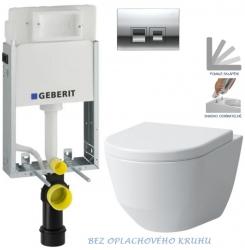 AKCE/SET/GEBERIT - KOMBIFIXBasic včetně ovládacího tlačítka DELTA 50 CR pro závěsné WC LAUFEN PRO RIMLESS + SEDÁTKO (110.100.00.1 50CR LP1)